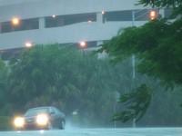 Rain Drive Roadway Stock Video Footage