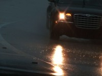 Wet Road Cars Stock Video Footage