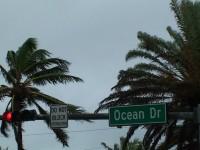 Ocean Drive Hurricane Stock Video Footage