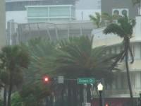 Miami South Beach Hurricane Stock Video Footage
