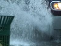 Street Flood Cars Stock Video Footage