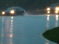 Rain Wet Road Cars Stock Video Footage