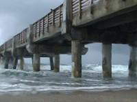 Rainy Beach Day Stock Video Footage