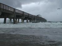 Storm Pier Stock Video Footage
