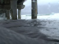 Hurricane Pier Stock Video Footage