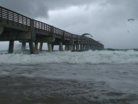 Tropical Storm Pier Stock Video Footage