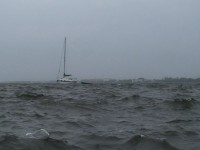 Hurricane Sailboat Stock Video Footage
