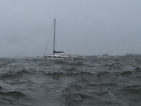 Hurricane Sailboat Zoom Stock Video Footage