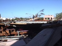Hurricane Damage Building Collapse Stock Video Footage