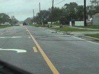Downed Power lines Hurricane Aftermath Stock Video Footage