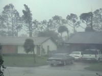 Residential Hurricane Winds and Rain Stock Video Footage